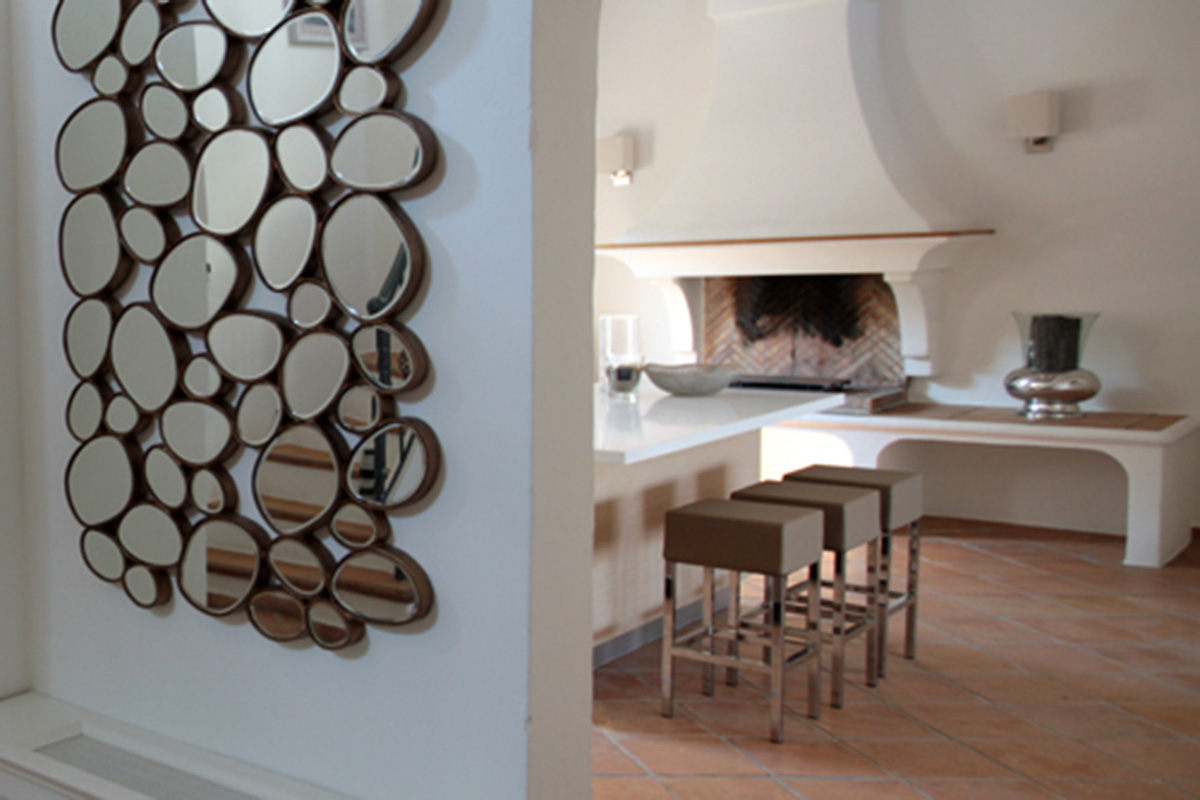 wall mirror bubble design