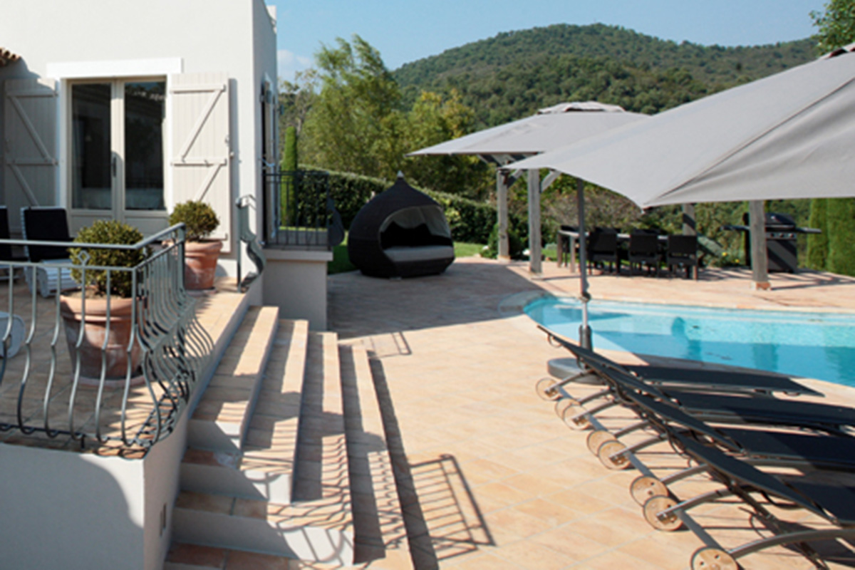 pools & gardens design for home in the South of France
