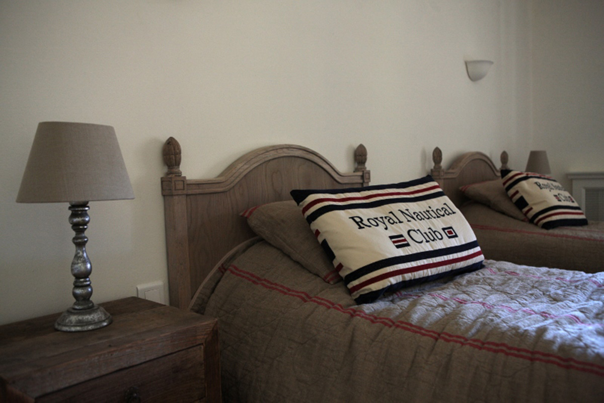 twin bedroom interior design for client in south of france