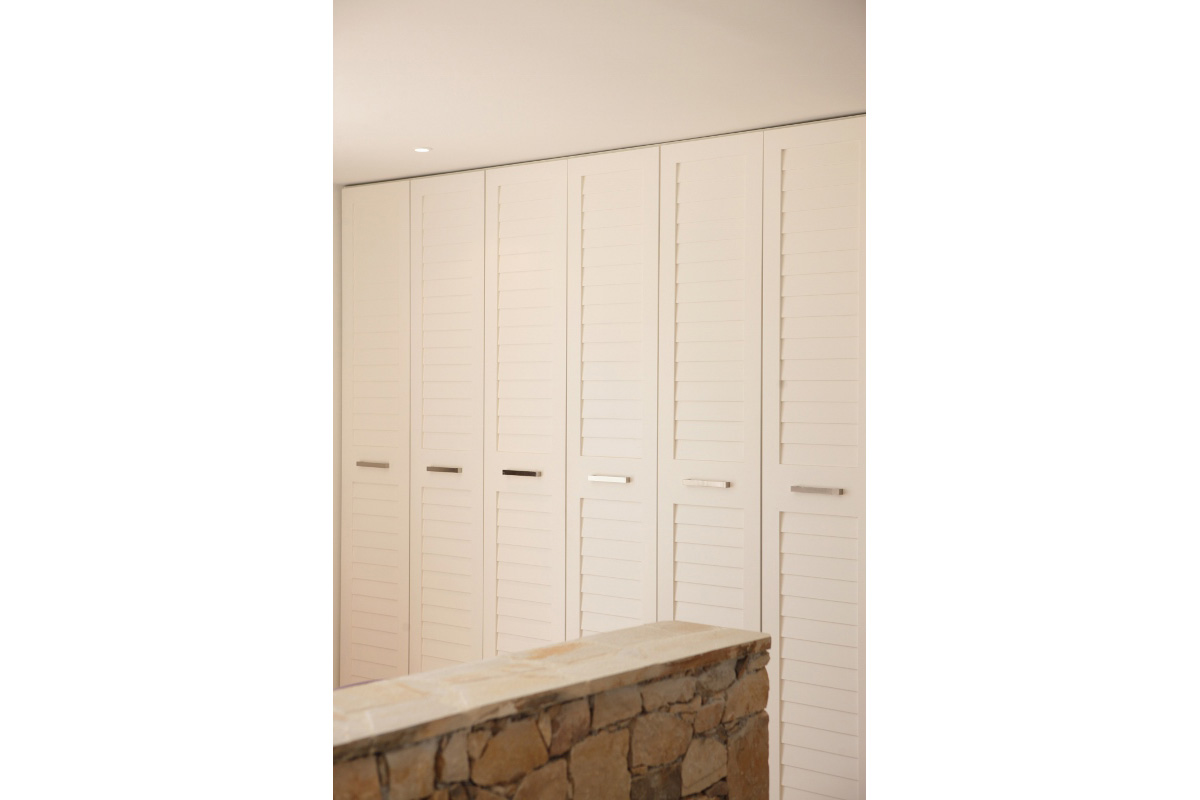 large wardrobe design with vents