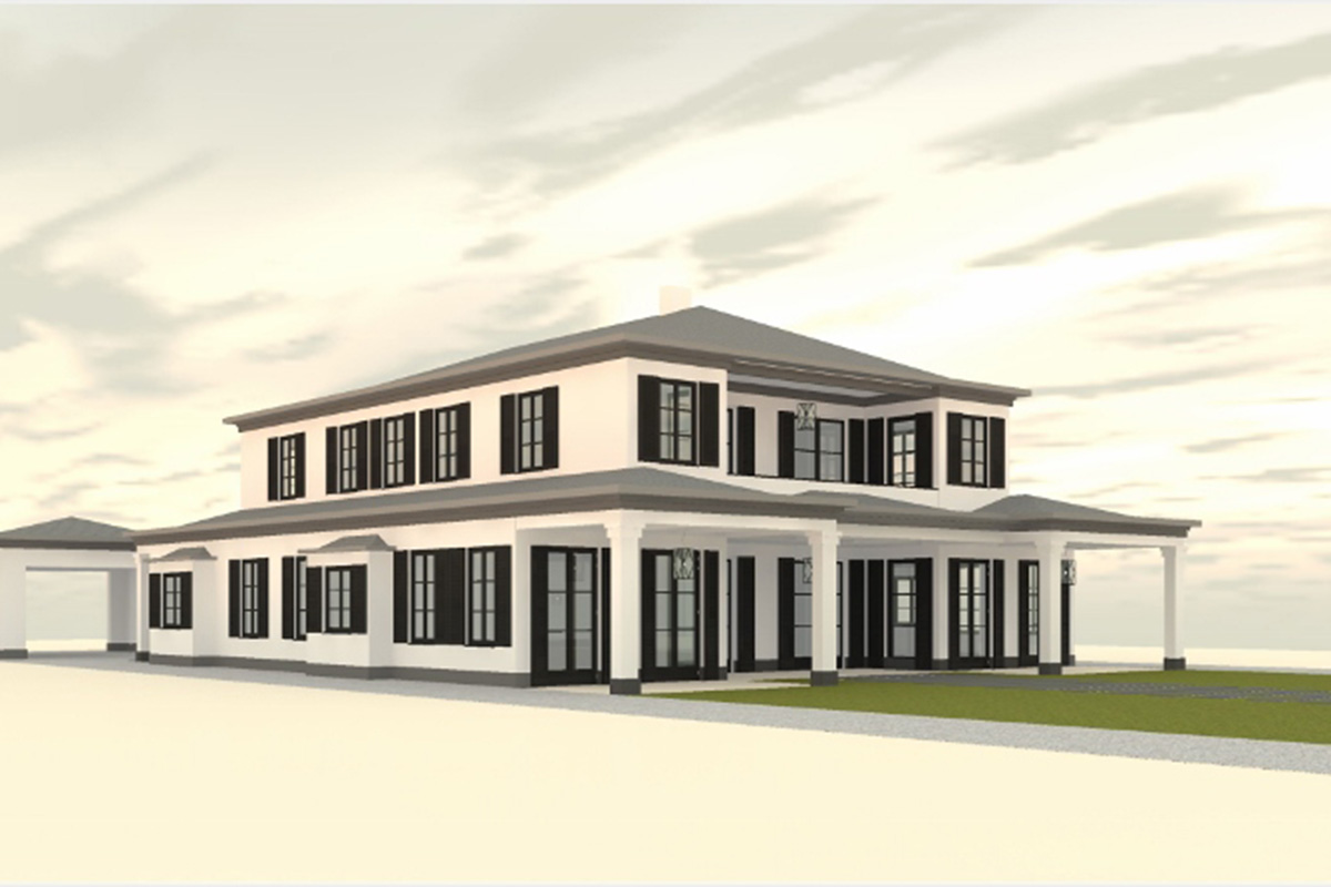 architecture cad design for large family home project