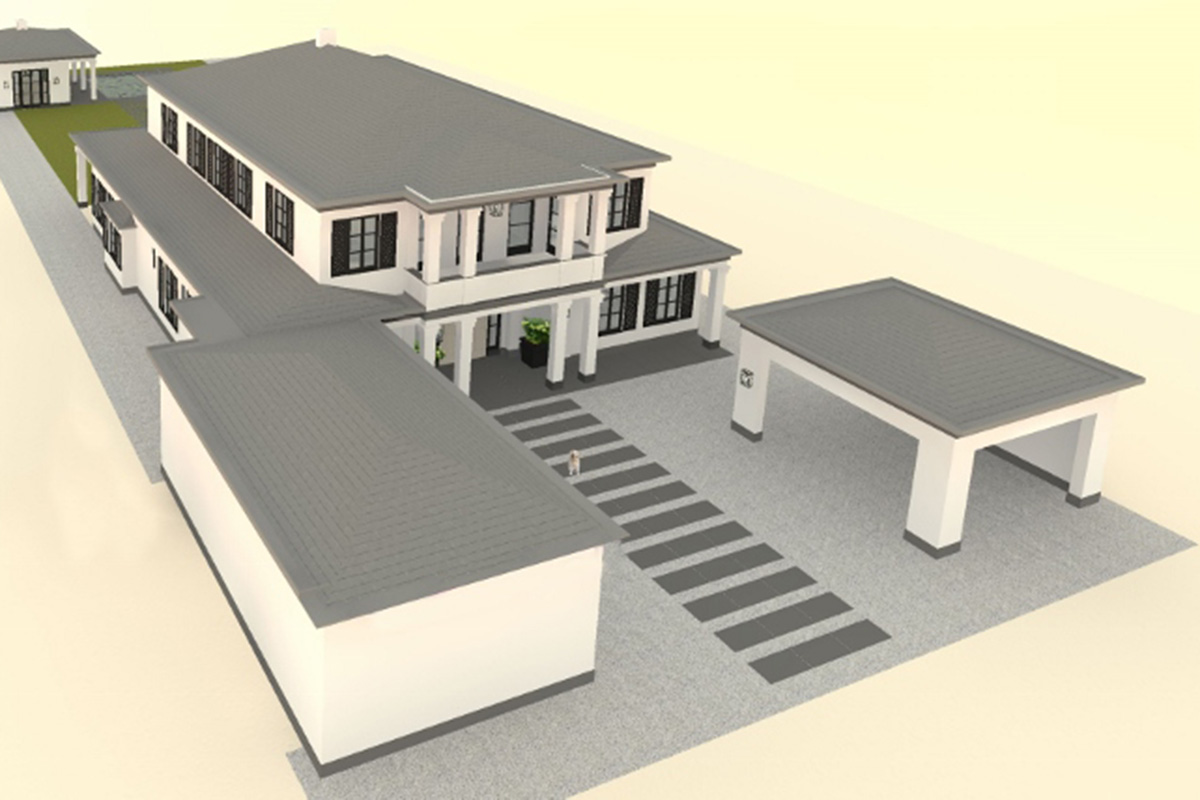 Cad design for new villa construction project