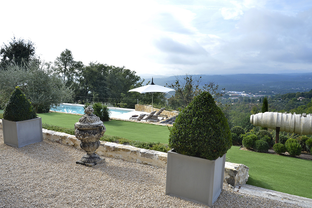 pool landscape project in cote d'azur