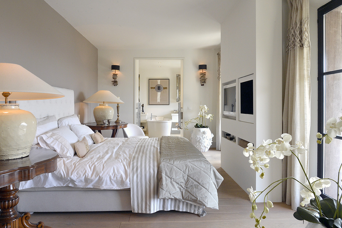 modern bedroom interior design for home in cote d'azur