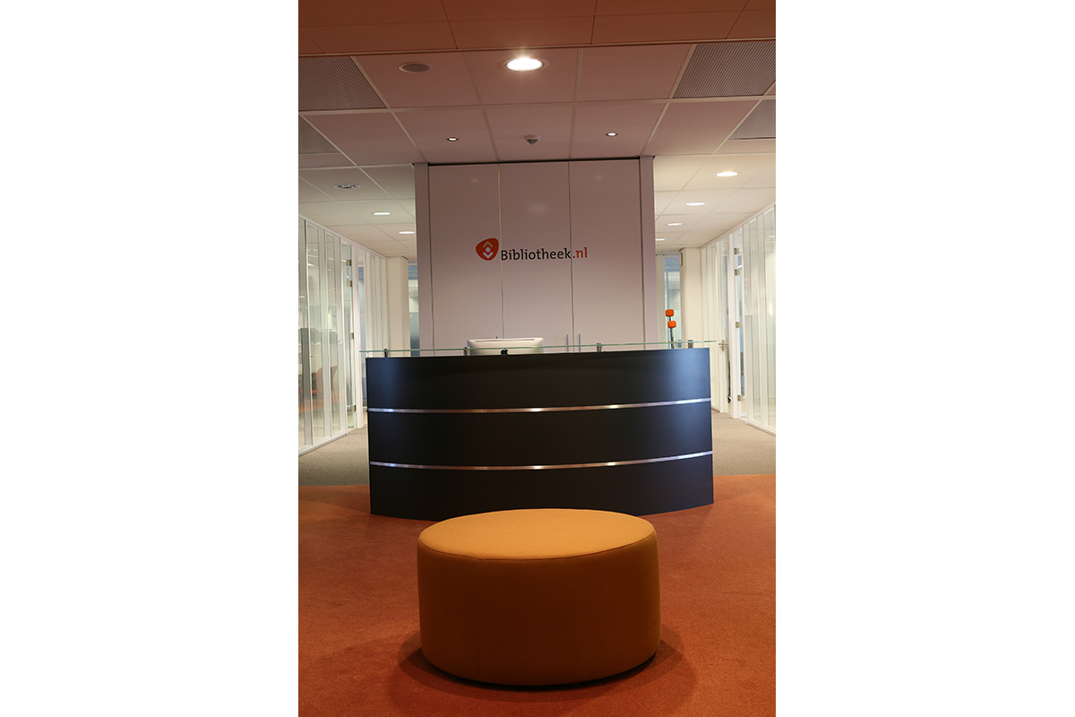 Reception area for Bibliotheek in the netherlands