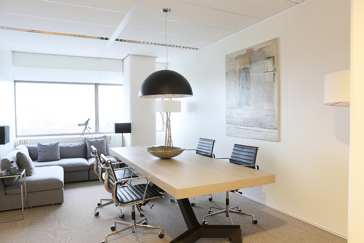 interior design with modern table and chairs