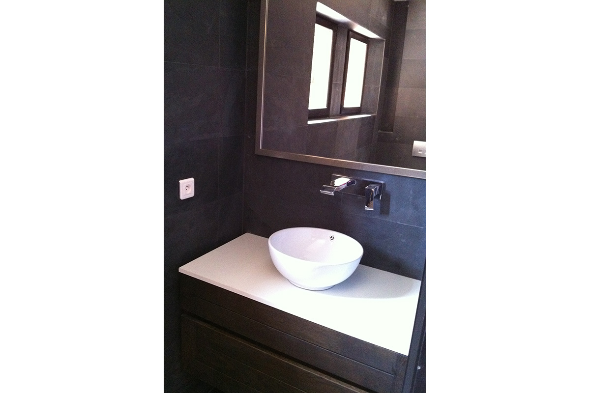 Bathroom fitted for home design project