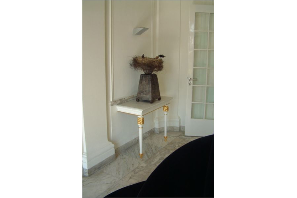 side table with two legs for hallway