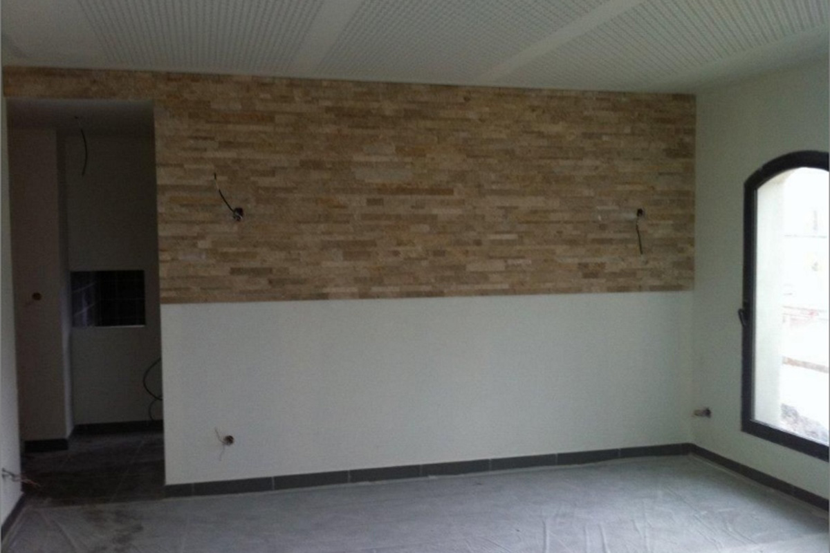 new construction project with wall feature in Monaco